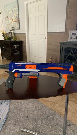 Blue rampage nerf gun +25 round ammo clip for Sale in Lehigh Acres, FL