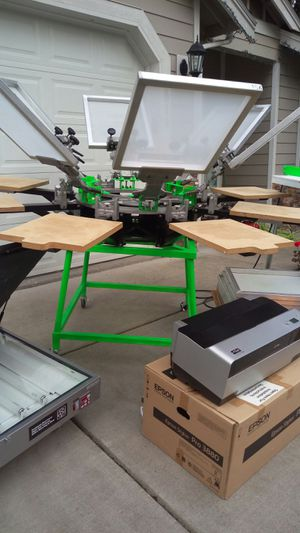 Screen Printing Press, Complete Screen Printer Set-Up for Sale in Renton, WA