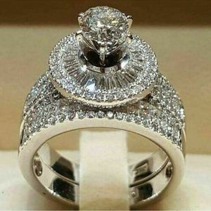 Exquisite 2 PCS White Sapphire Gemstone Wedding Ring Jewelry Sizes 6 -11 *See My Other 300 Items* for Sale in Palm Beach Gardens, FL
