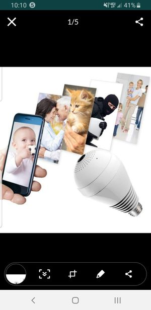 Wifi security camera light bulb, install in seconds, infrared, motion sensor, send you text to your phone, to alarm you for Sale in San Dimas, CA
