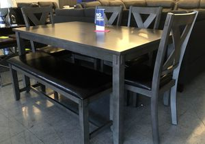 New grey dining set special was $899 for Sale in Palmdale, CA
