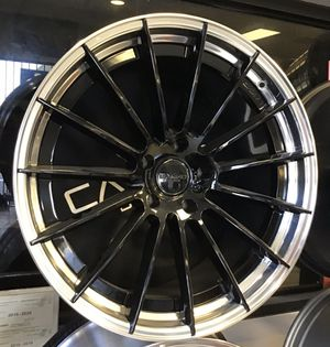 "BLOWOUT PRICE! Brand new 22"" Staggered 2-Piece Forged Canino Rims Wheels Black Polished Lip Porsche Audi 5x130 for Sale in Town 'n' Country, FL"