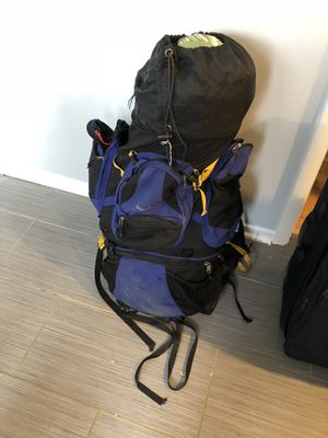 Camping backpack with 2 sleeping bags and 2 person tent for Sale in Chicago, IL