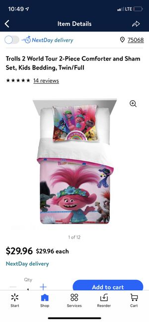 Trolls World Tour Twin/Full size bedding for Sale in Oak Point, TX