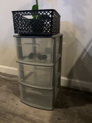Plastic Set of Three Drawers for Sale in Washington, DC
