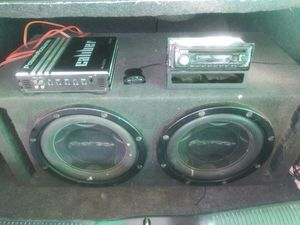 12 inch pioneer subs complete sound system amp n stereo $180 for Sale in San Bernardino, CA