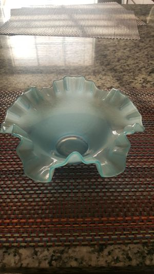 Blue Fenton Dish for Sale in Reynoldsburg, OH