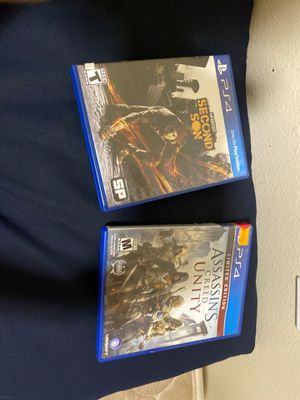 PS4 Games Assassin's creed and inFamous second for Sale in West Valley City, UT