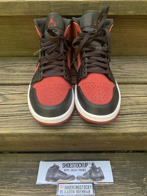 Jordan 1 Mid Gym Red/Black for Sale in West Lake Hills, TX