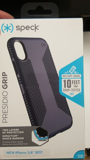 """Case speck for iphone x/xs 5.8"""" gray-black new 10firm now ship out of the town for Sale in Phoenix, AZ"""