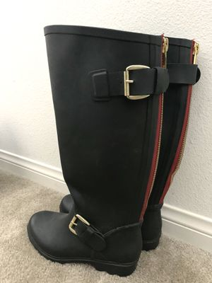 Rain boots w/ Zip - Size 8 - Never Used- $7 for Sale in San Jacinto, CA