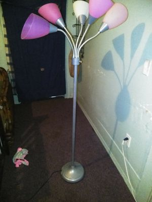 Pink floor lamp for Sale in Winter Haven, FL