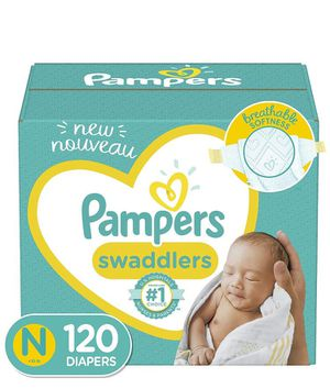 Pampers swaddlers size newborn- 120 Ct for Sale in Irving, TX