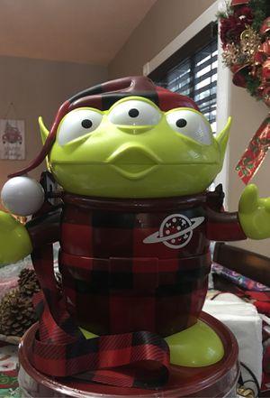 Disney parks toy story Alien Christmas popcorn bucket for Sale in Norwalk, CA