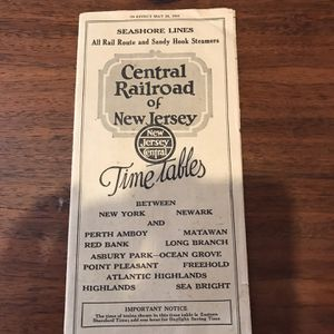 "1931 Central Railroad of New Jersey Timetable Seashore Lines Blue Comet ""Bullet"" for Sale in Port Richey, FL"