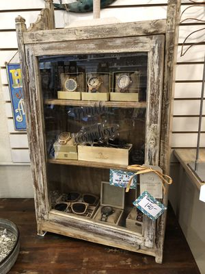 Repurposed wood solid glass door cabinet (shelf or hang) for Sale in Orlando, FL