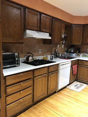 Kitchen Cabinets, oven, microwave, dishwasher, gas stovetop, and hood range for Sale in Annandale, VA
