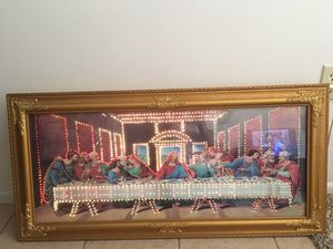 The Last supper electric lights for Sale in Sun City, AZ