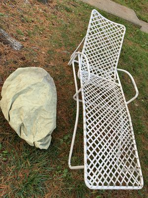 Metal Lounge Chair (with Canvas Cover) for Sale in Gaithersburg, MD
