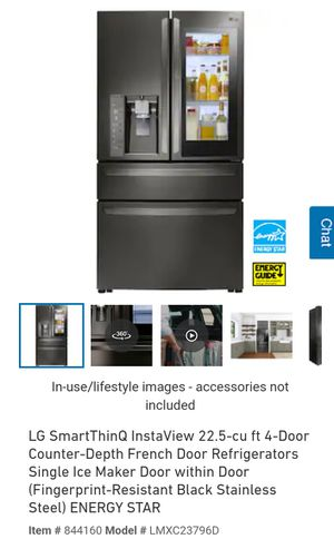 LG SmartThinQ InstaView 22.5-cu ft 4-Door Fridge for Sale in Gahanna, OH