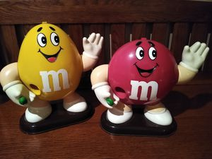 Vintage Plain and Peanut M&M Dispensers for Sale in Washington, IL