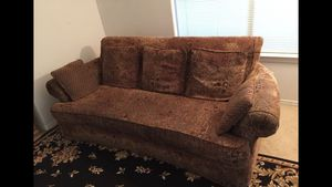 """2 Sofas (90""""W x 38""""D) w/Covers, $170, soft, comfortable, long enough to sleep on for Sale in Sanger, CA"""