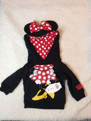 Disney Infant minnie mouse Ears hoodie sweater sz 0-3month Nwt for Sale in West Covina, CA