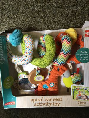 Spiral car seat activity toy for Sale in Cleveland, OH