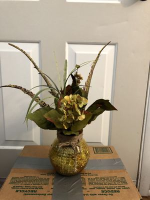 Fake flowers with vase for Sale in Tempe, AZ