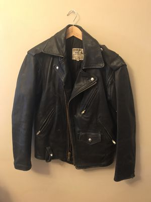 Vintage Leather Motorcycle Jacket Men's Size 38 for Sale in Denver, CO