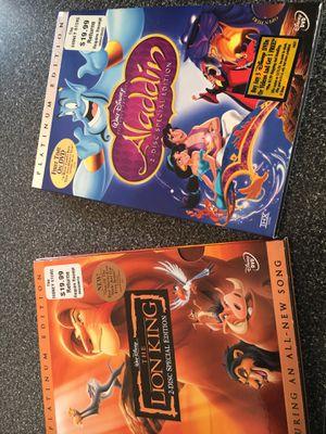 Aladdin, Lion King& Shrek DVD sets for Sale in Fogelsville, PA