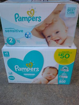 Pampers and wipes for Sale in Killeen, TX