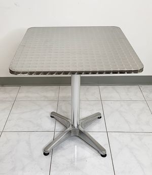 """New $25 Square 24""""x24"""" Aluminum Indoor Outdoor Table Stainless Steel Top with Base for Sale in South El Monte, CA"""
