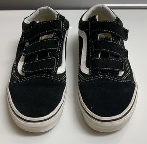Black Velcro Vans, Women's size 8, worn only twice for Sale in Palm Beach Gardens, FL