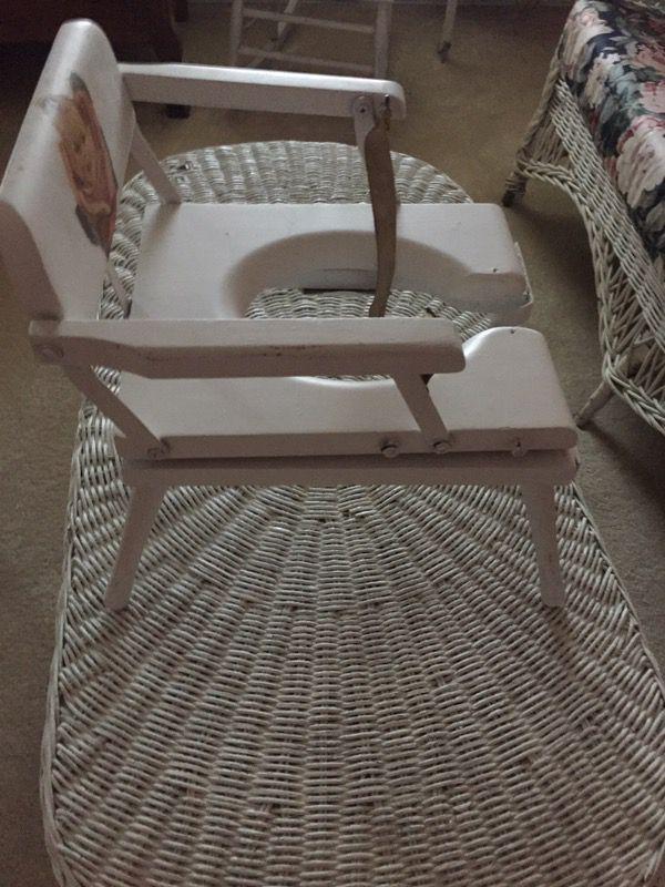 Vintage antique child's potty chair