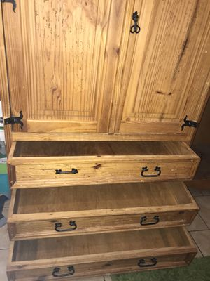 Antique pine armoire for Sale in Los Angeles, CA