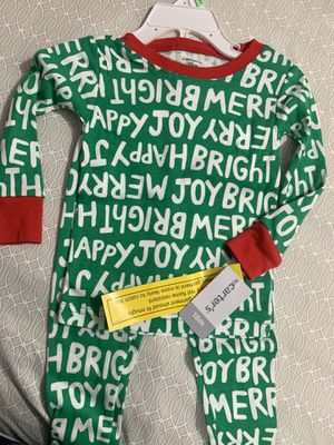 New Christmas pjs for baby boy (Carter's size 18 months) for Sale in Chula Vista, CA