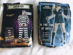 Halloween costumes half off. Jailbird $10 and Cop $15. Only worn once for Sale in Austin, TX