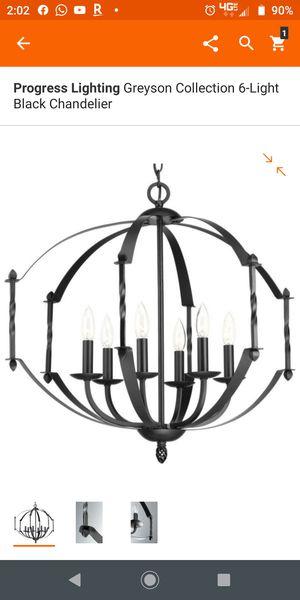 9 lights,, black chandelier for Sale in Grand Prairie, TX