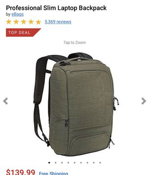 Slim Laptop Backpack — olive green for Sale in Burbank, CA