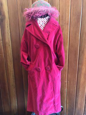 Vintage 60's Marguerite Rubel Bright Pink Velvet Coat for Sale in Orange, CA