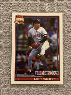 Larry Andersen Boston Red Sox 1991 Topps 40 Years Of Baseball for Sale in Federal Way,  WA