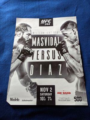 ⭐UFC FIGHT POSTER - MASVIDAL VS DIAZ ⭐ for Sale in Oklahoma City, OK