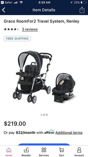 Graco Roomfor2 w/ car seat for Sale in Midland, TX