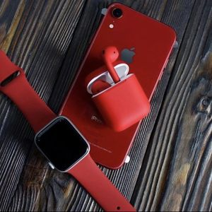 Apple Watch Band + Airpods Case In Red for Sale in San Diego, CA