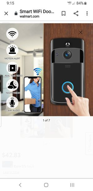 Camera for your front door, WIFI, recording and taking pictures, of anything that goes infront of your home, send you alert in your phone for Sale in San Dimas, CA