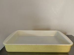 Pyrex Desert Dawn speckled yellow 232 2QT baking brownie pan, vintage mid century for Sale in Milwaukee, WI