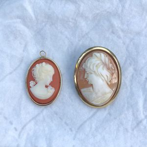 Vintage cameo brooch and pendant for Sale in Manassas, VA