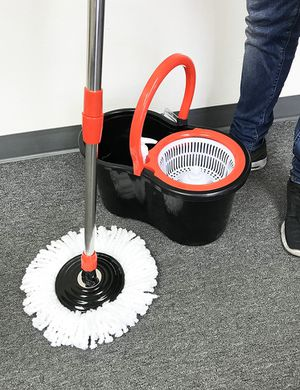 New $15 each Spin Mop 360 degree press mop bucket set with push and pull rotation for Sale in South El Monte, CA