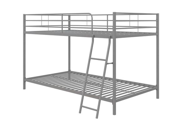 Mainstays Small Space Twin Over Twin Bunk Bed Frame Only